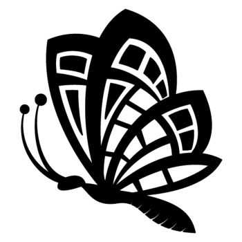 Vintage butterfly taking flight decal