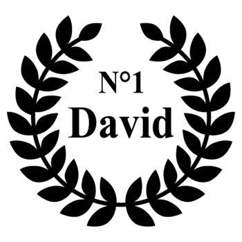 Sticker Déco Porte chambre garçon Numéro 1 Champion - Nom à Personnaliser