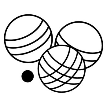 Bocce Balls decoration decal