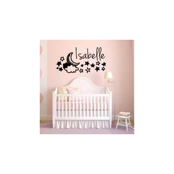 Moon Stars Night Sky costum baby bedroom decoration decal