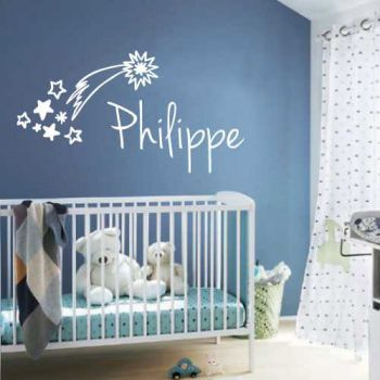 Shooting star costum baby bedroom decoration decal