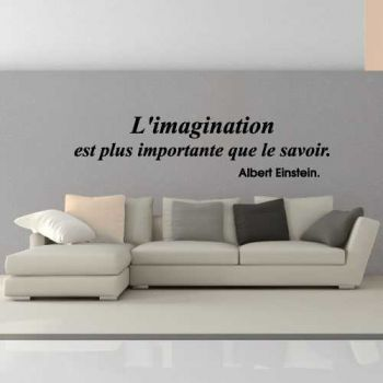 Sticker L'imagination est plus importante que le savoir. Albert Einstein.