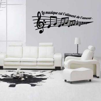 Sticker La Musique est l'aliment de l'amour.