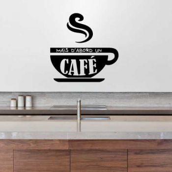 Mais d'abord un café Decal