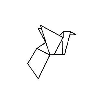 Origami Bird decal