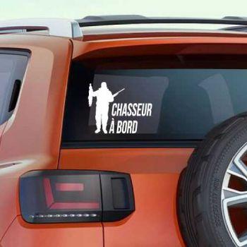 Sticker Auto Chasseur à Bord Lapin