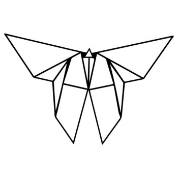Origami Butterfly decal