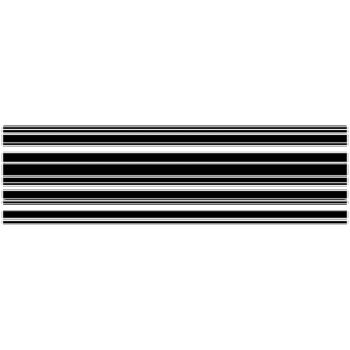 Horizontal stripes shower door decal