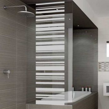 Vertical stripes shower door decal