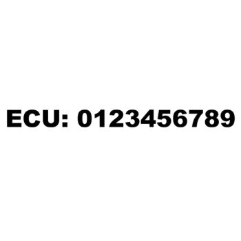 ECU emergency telephone number custom decal