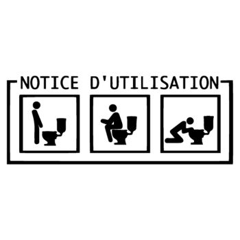 Sticker Humour Notice d'utisation WC