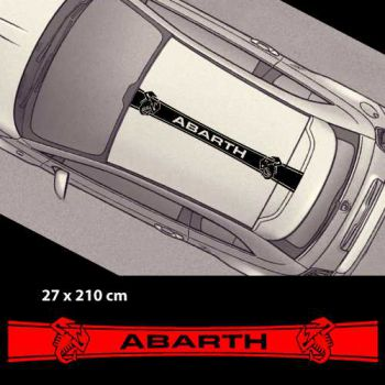 Stickers bandes autocollantes Toit Fiat 500 Abarth