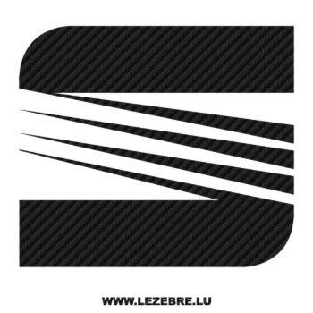 Sticker Karbon Seat Logo
