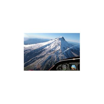 Sticker Déco Cockpit Avion et montagne