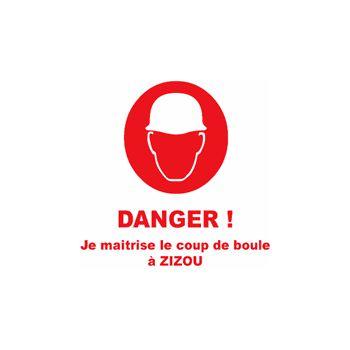 Sweat-Shirt Danger! Coup de boule Zizou