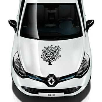 Floral Tree Treble Clef Design Renault Decal