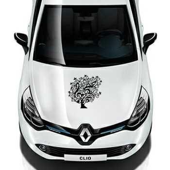 Floral Tree Treble Clef Design Renault Decal