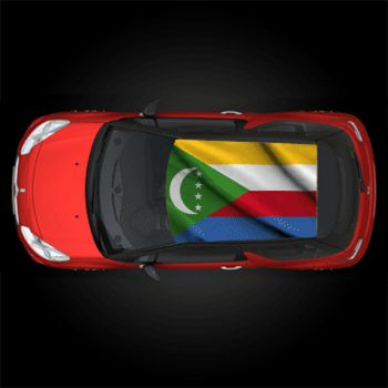 Comoros flag car roof sticker