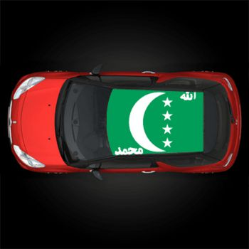Comoros flag car roof sticker moone