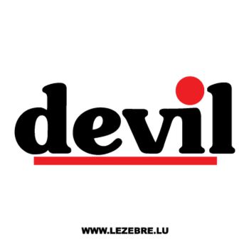 Sticker Devil Echappement Logo Couleur