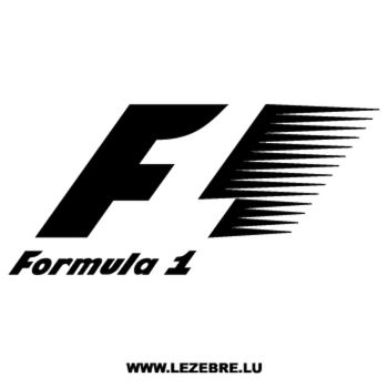 Formule 1 F1 Logo Decal