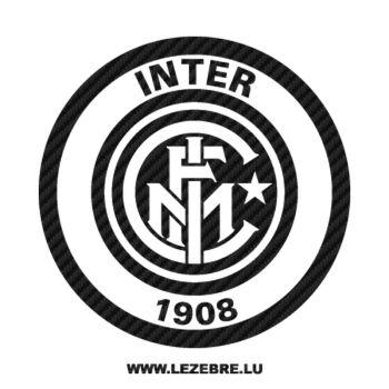 Sticker Carbone Inter Milan Logo