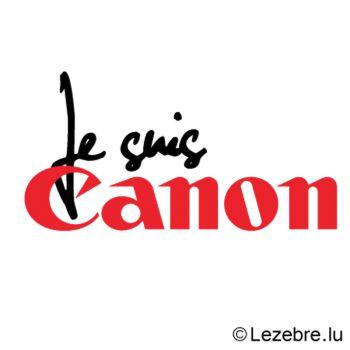 Casquette Je suis Canon parodie Canon