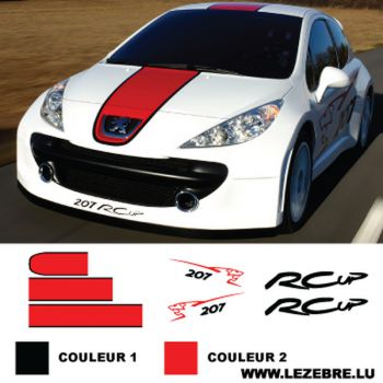 Kit Stickers Peugeot 207 RCup