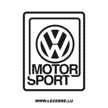 VW Volkswagen Motorsport Carbon Decal