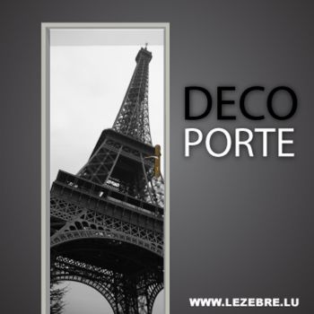 Eiffel Tower door decal