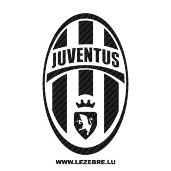 Sticker Carbone Juventus Logo