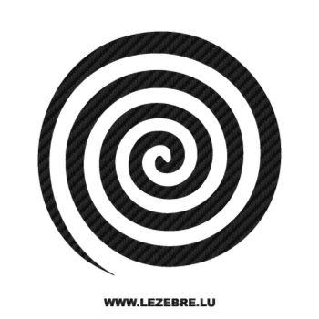 Sticker Carbone Deco Spirale