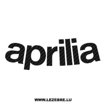 Sticker Carbone Aprilia Courbé