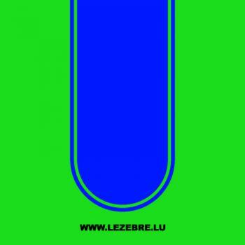 Sticker Bande Moto Racing Arrondie 2