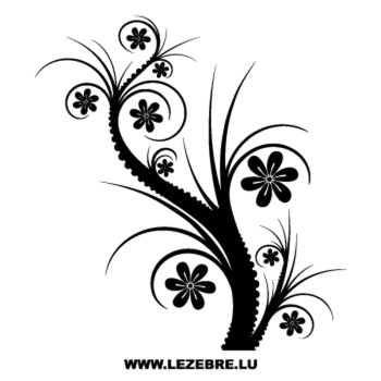 Floral Flowers Decal 2