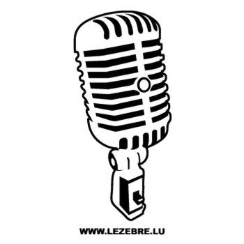 Autocollant Microphone