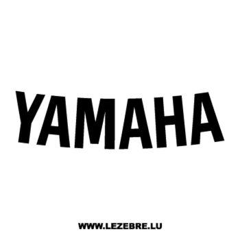 Sticker Yamaha Logo Courbé