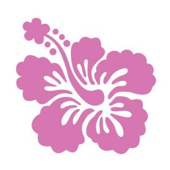 Sticker Fleur HIBISCUS Déco mQ