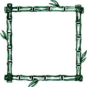 Sticker Cadre Bambou