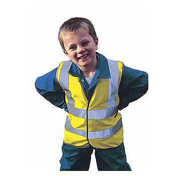 Gilet sécurité enfant jaune fluo