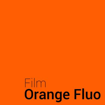Fluorescence Orange vinyl film