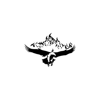 Flame Golden Eagle Decal 54