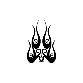 > Sticker Flamme Baroque 57
