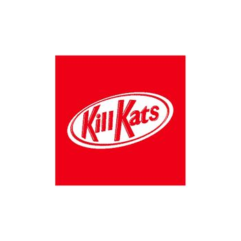 Tee shirt Kill Kats parodie Kit Kat chat