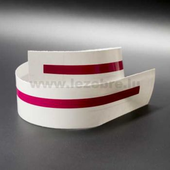 Fuchsia rim sticker roll