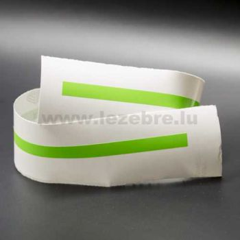 Lime green rim sticker roll