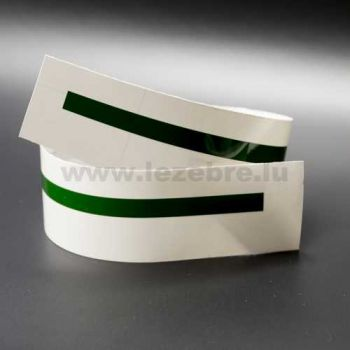 Pine green rim sticker roll