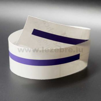 Purple rim sticker roll