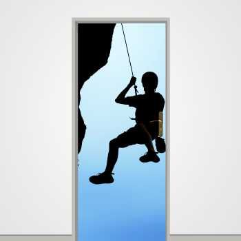 Mountain climber door decal