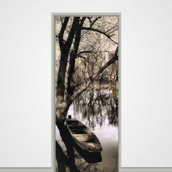 River Boat door decal